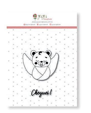 Cartela de carimbo de silicone Mini Cheguei - Juju Scrapbook