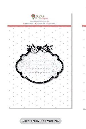 Cartela de carimbo de silicone G - Guirlanda Journaling - Juju Scrapbook