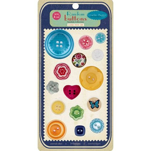Embalagem de botões diversos - Random Buttons - Crate Paper