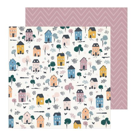Papel para scrapbook - 30x30 - Dupla Face - Heritage - Homestead - Maggie Holmes - Crate Paper