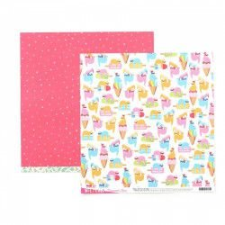 Papel para scrapbook - 30x30 - Dupla Face - Wild Card - Damask Love - Don't Hurry be Happy - American Craft