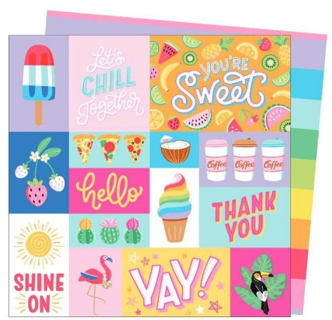 Papel para scrapbook - 30x30 - Dupla Face - Wild Card - Damask Love - So Fresh - American Craft