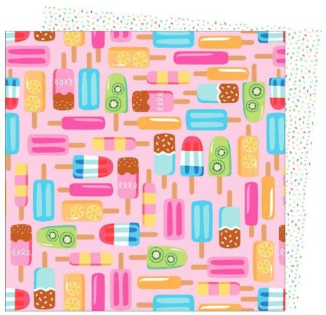Papel para scrapbook - 30x30 - Dupla Face - Wild Card - Damask Love - Lets Chill - American Craft