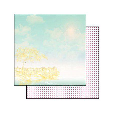 Papel para scrapbook - 30x30 - Dupla Face - Strawberry Fields - Dream On - Webter's