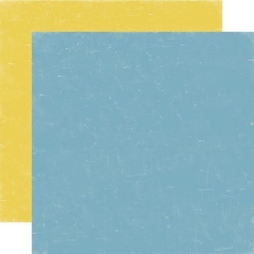 Papel para scrapbook - 30x30 - Dupla Face - Bundle of Joy - Blue/Yellow - Echo Park