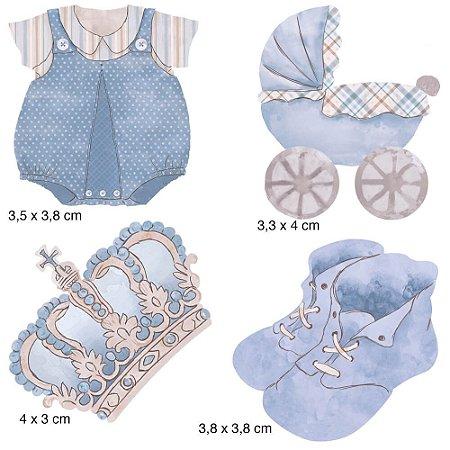 Apliques em MDF 4 bebe menino APM3-156- Litoarte