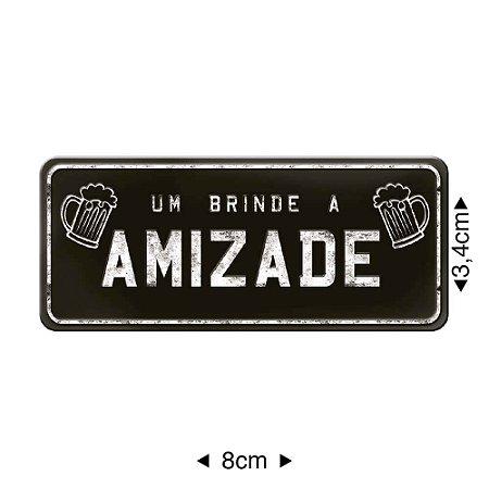 Apliques em MDF placa AMIZADE, APM8-342 - Litoarte