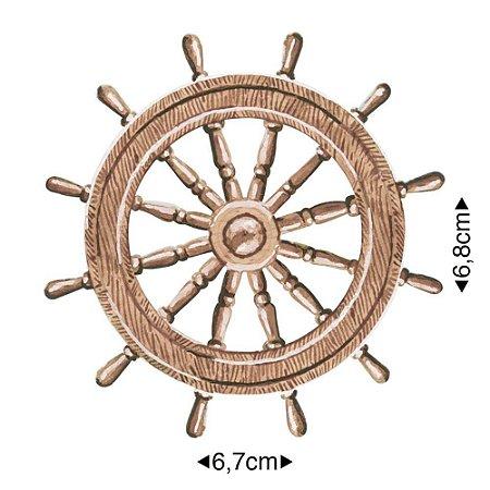 Aplique em MDF frase: timão navio, APM8-1045 - Litoarte
