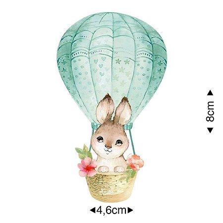 Aplique em MDF coelho no balão , APM8-1287 - Litoarte