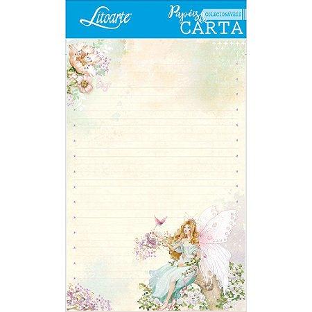 Kit papel de carta PEC 006 - 5 folhas - Fadas III - Litoarte