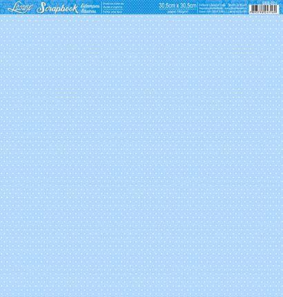 Papel Azul mini poá branco face única SBB-020 - Litoarte
