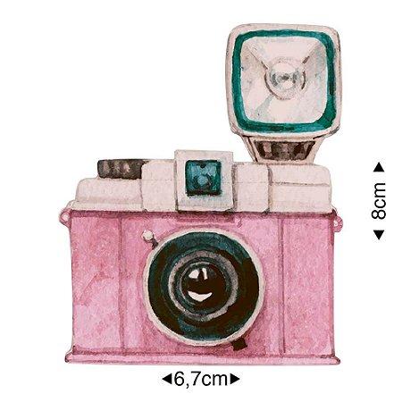 Aplique em MDF Máquina fotográfica com flash APM8-1281 - Litoarte