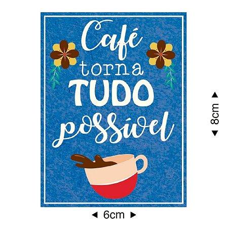 Aplique em MDF Café torna tudo possível APM8-1120 - Litoarte