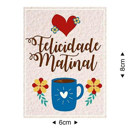 Aplique em MDF Felicidade matinal APM8-1119 - Litoarte