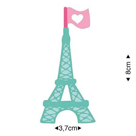Aplique em MDF Torre Eiffel APM8-1214 - Litoarte