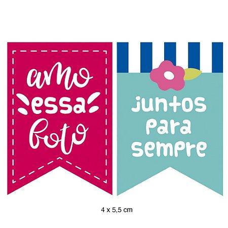 Apliques em MDF Bandeirolas Amor APM4-403 - Litoarte