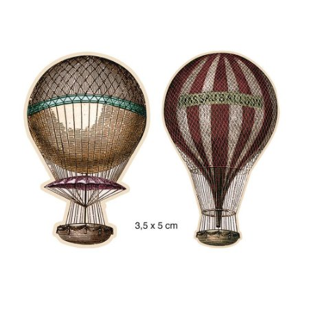 Apliques em MDF Balões Vintage APM4-120 - Litoarte