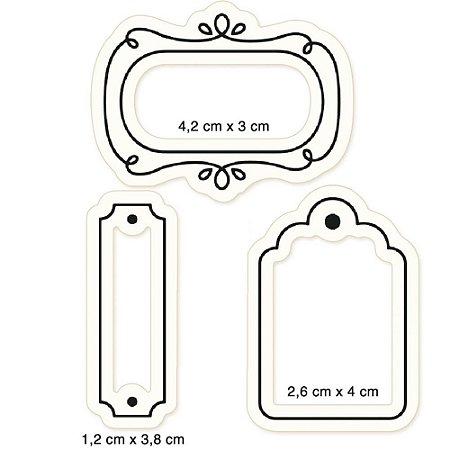 Cartela de carimbos de silicone Tags - CLP-186 - Litoarte