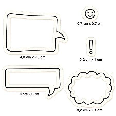 Cartela de carimbos de silicone Balões de fala - CLP-185 - Litoarte