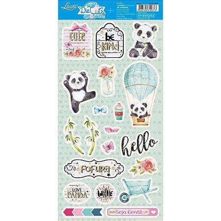 Cartela de die cuts Pandas LDC-001 - Litoarte