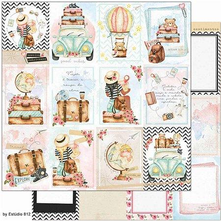 Papel SD-1137 Cards Viagem - dupla-face - Litoarte