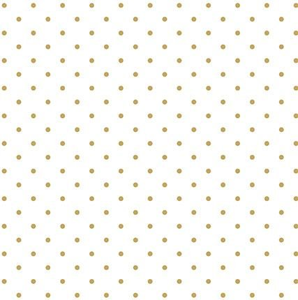 Papel SH30-009 branco com poá com foil dourado- Litoarte