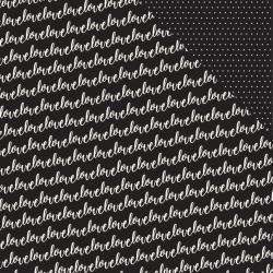 Papel Scrapbook - Cottage Living - Love Notes - Pebbles