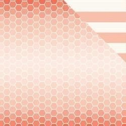 Papel Scrapbook - Cottage Living - Sunrise Sunset  - Pebbles