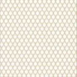 Papel Scrapbook - Cottage Living - Gold Foil Honeycomb   - Pebbles
