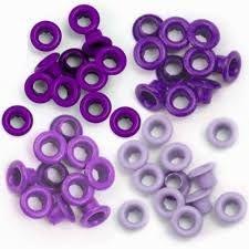 Ilhoses de alumínio tons lilás - We R