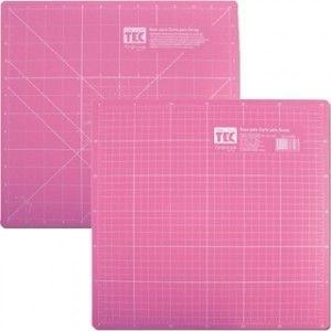 Base de corte rosa 37x37cm - Toke e Crie