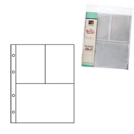 Refil plástico para álbum pequeno Scrap Momentos - Design 3 - Toke e Crie