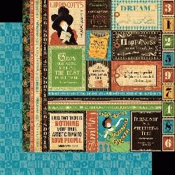 Papel Scrapbook - Tipography - Dream  Graphic 45