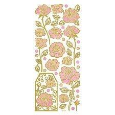 Adesivos fashion com glitter - Rosas -  Toke e Crie