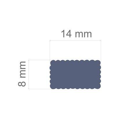 Furador regular alavanca (papel) Retângulo Escalope - Toke e Crie