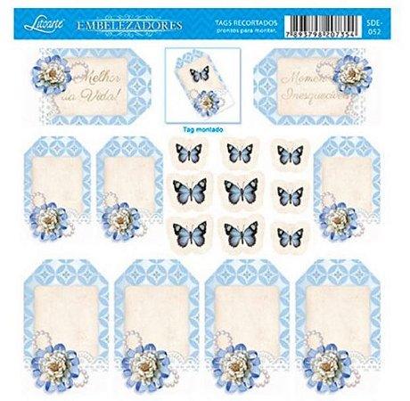 Die cuts Borboletas Fundo Azul SDE-052 SDE-059 - Litoarte