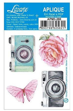 Aplique em MDF Fotos e Flores coleção Bons Momentos APM3-280 - Litoarte