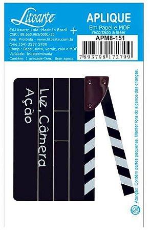 Aplique em MDF Claquete APM8-151 - Litoarte