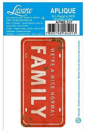 Aplique em MDF Family - Família -  APM8-337 - Litoarte