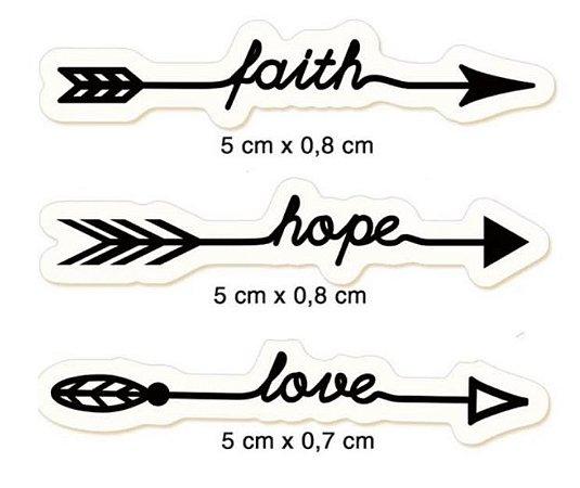 Carimbos Flechas com palavras CLP-114 - Litoarte