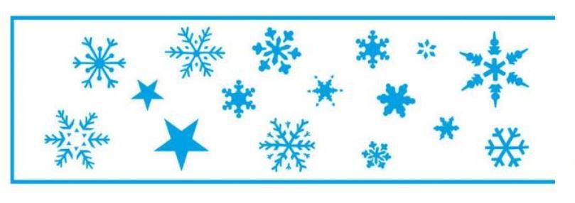 Stencil STN-034 - Natal - Flocos de Neve - Litoarte