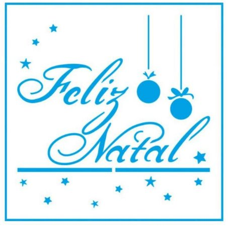 Stencil STNX-029 - Natal - Feliz Natal cursivo - Litoarte