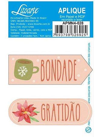 Aplique em MDF Natal - Tags Bondade - APMN4-028 - Litoarte