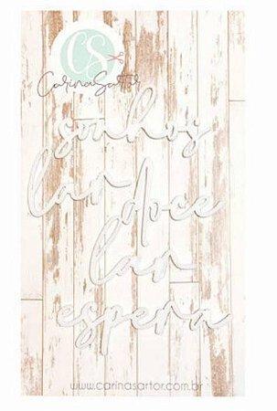 Títulos em acrílico branco - Sonhos - WAI13 - Carina Sartor