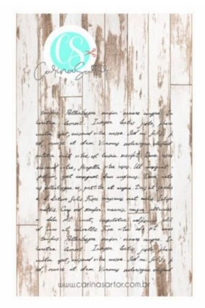 Carimbo de silicone Manuscrito - Carina Sartor