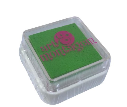 Almofada mini carimbeira Verde pistache INK002-17 - Art Montagem