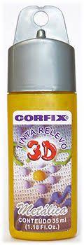 Tinta Relevo 3D Ouro - Corfix