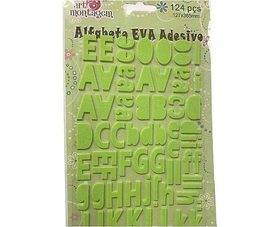 Alfabeto adesivado EVA Verde claro - Art e Montagem