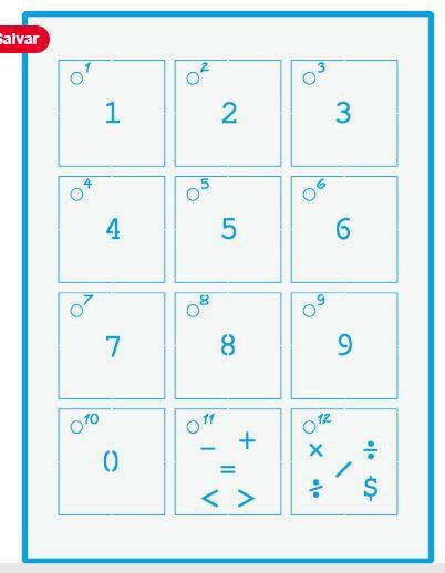 Mini Stencil STMI-021 - Números com capa acrílico e argola - Litoarte