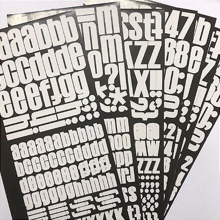 Adesivos alfabeto Moma White - American Crafts